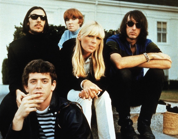 Velvet Underground - back l-r: Sterling Morrison, Maureen Tucker, Nico & Doug Yule, Lou Reed is front left. (Photo courtesy: Pictorial Press/Cache Agency)
