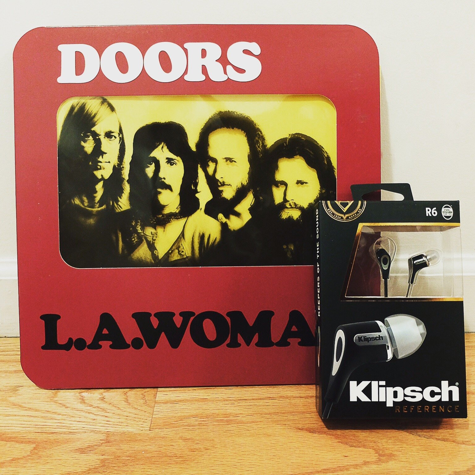 The Doors L A  Woman & Klipsch Audio R6 earphones