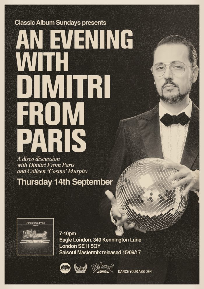 CAS London presents An Evening With Dimitri From Paris